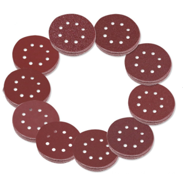 Aluminum oxide abrasive sanding disc with paper backing
